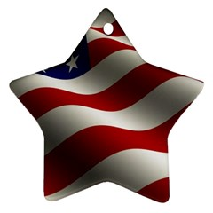 Flag United States Stars Stripes Symbol Star Ornament (two Sides) by Simbadda