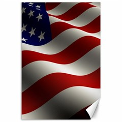 Flag United States Stars Stripes Symbol Canvas 24  X 36  by Simbadda