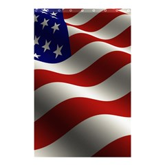 Flag United States Stars Stripes Symbol Shower Curtain 48  X 72  (small)  by Simbadda
