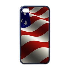 Flag United States Stars Stripes Symbol Apple Iphone 4 Case (black) by Simbadda