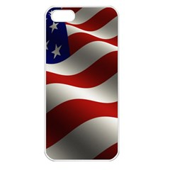 Flag United States Stars Stripes Symbol Apple Iphone 5 Seamless Case (white)
