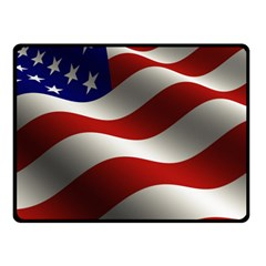 Flag United States Stars Stripes Symbol Double Sided Fleece Blanket (small)  by Simbadda