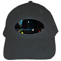 Glare Light Luster Circles Shapes Black Cap by Simbadda