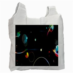 Glare Light Luster Circles Shapes Recycle Bag (one Side)