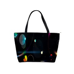 Glare Light Luster Circles Shapes Shoulder Handbags by Simbadda