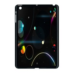 Glare Light Luster Circles Shapes Apple Ipad Mini Case (black) by Simbadda