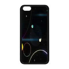 Glare Light Luster Circles Shapes Apple Iphone 5c Seamless Case (black)