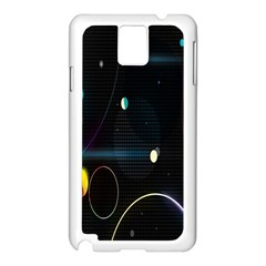 Glare Light Luster Circles Shapes Samsung Galaxy Note 3 N9005 Case (white) by Simbadda