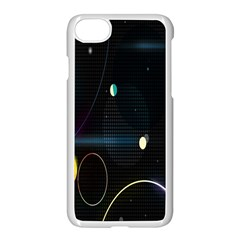 Glare Light Luster Circles Shapes Apple Iphone 7 Seamless Case (white) by Simbadda