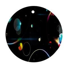 Glare Light Luster Circles Shapes Ornament (round) by Simbadda