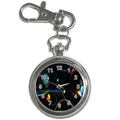 Glare Light Luster Circles Shapes Key Chain Watches by Simbadda