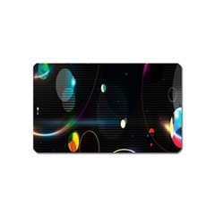 Glare Light Luster Circles Shapes Magnet (name Card) by Simbadda