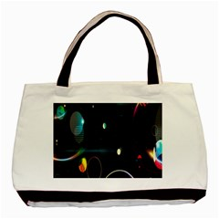 Glare Light Luster Circles Shapes Basic Tote Bag by Simbadda