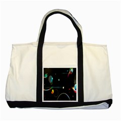 Glare Light Luster Circles Shapes Two Tone Tote Bag by Simbadda
