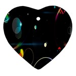Glare Light Luster Circles Shapes Heart Ornament (Two Sides) Back