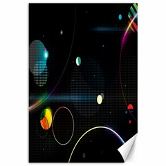 Glare Light Luster Circles Shapes Canvas 12  X 18