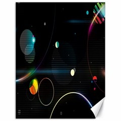 Glare Light Luster Circles Shapes Canvas 18  X 24   by Simbadda
