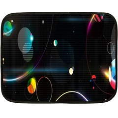 Glare Light Luster Circles Shapes Double Sided Fleece Blanket (mini)  by Simbadda