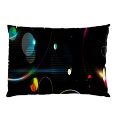 Glare Light Luster Circles Shapes Pillow Case (two Sides) by Simbadda