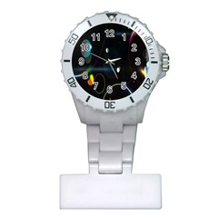 Glare Light Luster Circles Shapes Plastic Nurses Watch by Simbadda