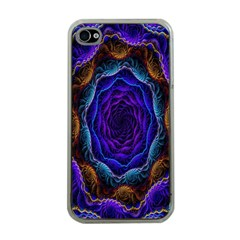 Flowers Dive Neon Light Patterns Apple Iphone 4 Case (clear) by Simbadda