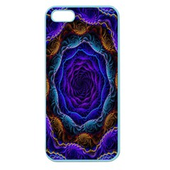 Flowers Dive Neon Light Patterns Apple Seamless Iphone 5 Case (color) by Simbadda