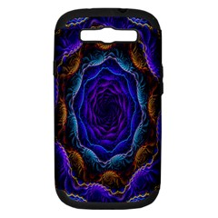 Flowers Dive Neon Light Patterns Samsung Galaxy S Iii Hardshell Case (pc+silicone) by Simbadda