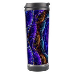 Flowers Dive Neon Light Patterns Travel Tumbler