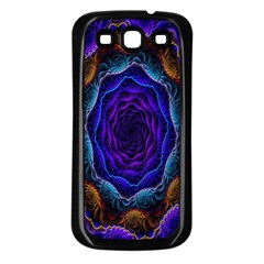 Flowers Dive Neon Light Patterns Samsung Galaxy S3 Back Case (black) by Simbadda