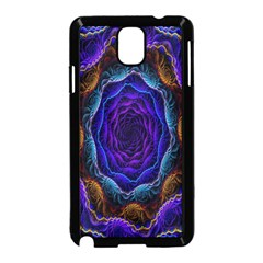Flowers Dive Neon Light Patterns Samsung Galaxy Note 3 Neo Hardshell Case (black)
