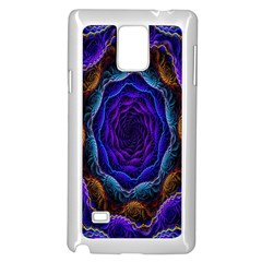 Flowers Dive Neon Light Patterns Samsung Galaxy Note 4 Case (white) by Simbadda