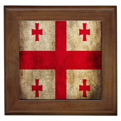 Georgia Flag Mud Texture Pattern Symbol Surface Framed Tiles