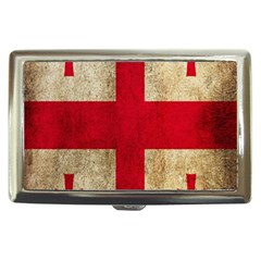 Georgia Flag Mud Texture Pattern Symbol Surface Cigarette Money Cases by Simbadda