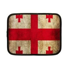 Georgia Flag Mud Texture Pattern Symbol Surface Netbook Case (small)  by Simbadda