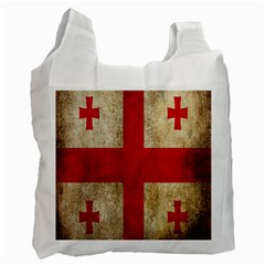 Georgia Flag Mud Texture Pattern Symbol Surface Recycle Bag (two Side)  by Simbadda