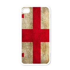 Georgia Flag Mud Texture Pattern Symbol Surface Apple Iphone 4 Case (white) by Simbadda