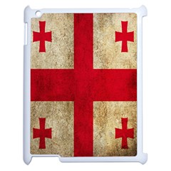 Georgia Flag Mud Texture Pattern Symbol Surface Apple Ipad 2 Case (white) by Simbadda