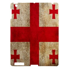 Georgia Flag Mud Texture Pattern Symbol Surface Apple Ipad 3/4 Hardshell Case by Simbadda