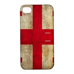 Georgia Flag Mud Texture Pattern Symbol Surface Apple Iphone 4/4s Hardshell Case With Stand by Simbadda