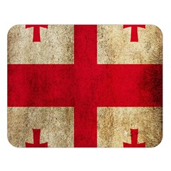 Georgia Flag Mud Texture Pattern Symbol Surface Double Sided Flano Blanket (large)  by Simbadda