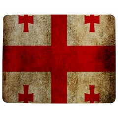 Georgia Flag Mud Texture Pattern Symbol Surface Jigsaw Puzzle Photo Stand (rectangular) by Simbadda