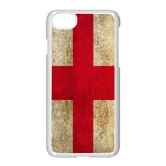 Georgia Flag Mud Texture Pattern Symbol Surface Apple Iphone 7 Seamless Case (white) by Simbadda