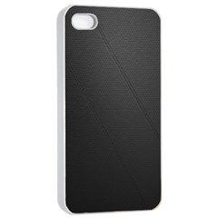 Leather Stitching Thread Perforation Perforated Leather Texture Apple Iphone 4/4s Seamless Case (white) by Simbadda