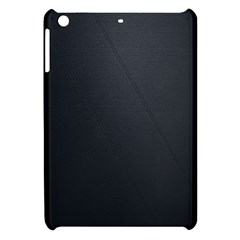 Leather Stitching Thread Perforation Perforated Leather Texture Apple Ipad Mini Hardshell Case by Simbadda
