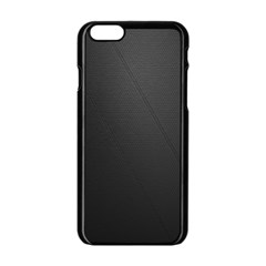 Leather Stitching Thread Perforation Perforated Leather Texture Apple Iphone 6/6s Black Enamel Case by Simbadda