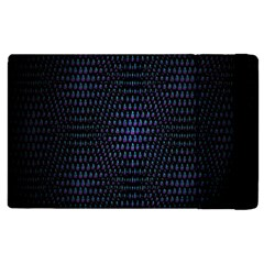 Hexagonal White Dark Mesh Apple Ipad 3/4 Flip Case by Simbadda