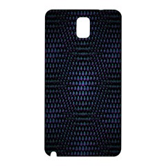 Hexagonal White Dark Mesh Samsung Galaxy Note 3 N9005 Hardshell Back Case by Simbadda