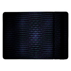 Hexagonal White Dark Mesh Samsung Galaxy Tab Pro 12 2  Flip Case by Simbadda