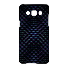 Hexagonal White Dark Mesh Samsung Galaxy A5 Hardshell Case  by Simbadda