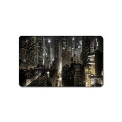 New York United States Of America Night Top View Magnet (name Card) by Simbadda
